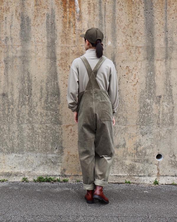 PHIGVEL フィグベル|CORDUROY OVERALL コーデュロイオーバーオール【G.OLIVE】