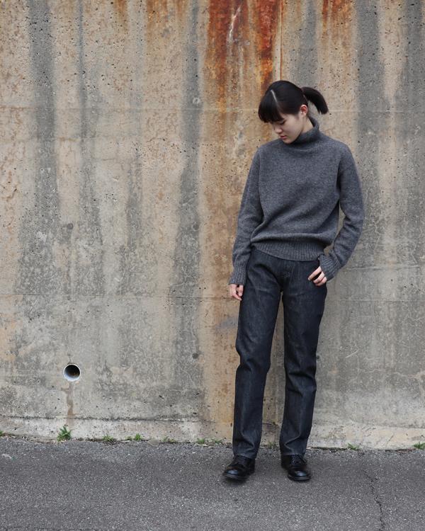 ANATOMICA アナトミカ SHET YARN KNIT TURTLE NECK  シェットヤーンニットタートルネック【D.GRAY】
