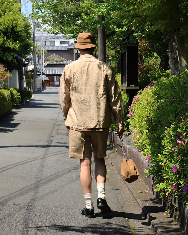PHIGVEL フィグベル|DRAWSTRING BAG S ドローストリング バッグ【KHAKI BROWN】