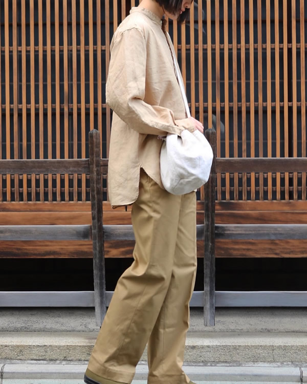 PHIGVEL フィグベル DRAWSTRING BAG S ドローストリング バッグ【SMOKE IVORY】