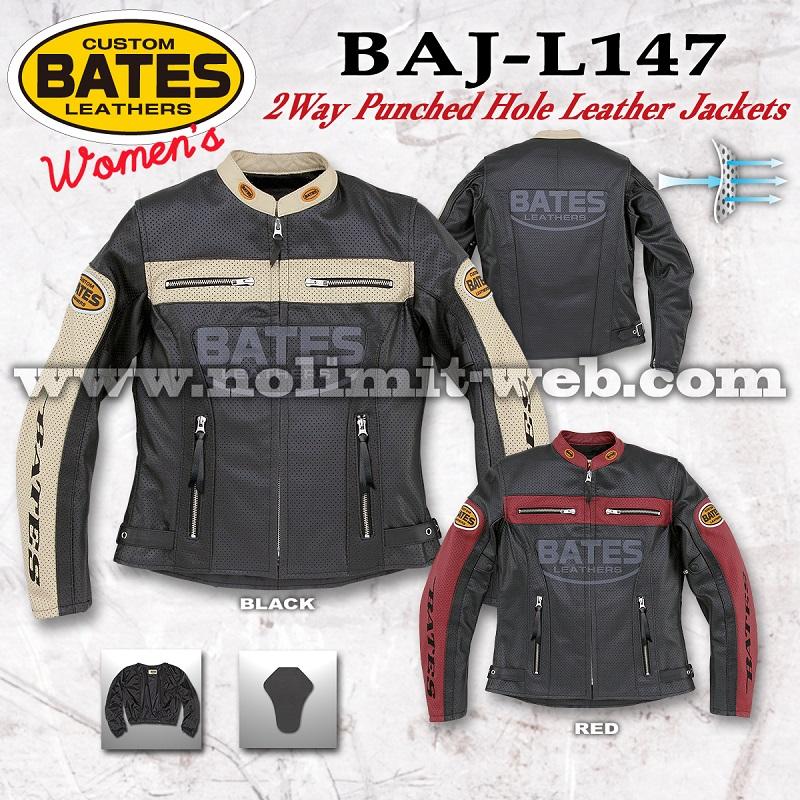 BAJ-L147-Ladys ベイツ レディス 2Wayパンチホールレザージャケット
