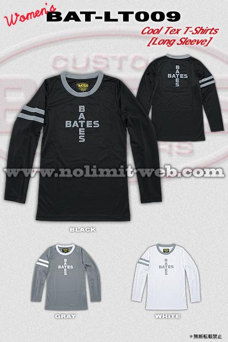 BAT-LT009-Ladys ベイツ レディス クールテックロングスリーブシャツ