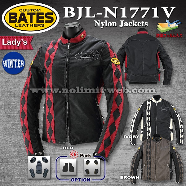 BJL-N11771V-Ladys 期間限定50%OFF ベイツ レディス 防風ナイロンジャケット(中綿入り)