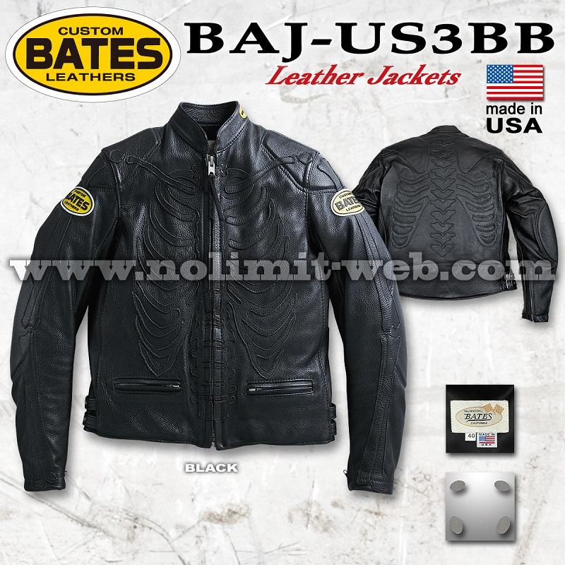 BAJ-US3BB ベイツ USレザージャケット ※グローブプレゼント対象