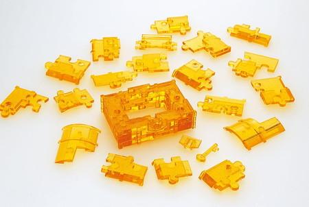 クリスタルパズル トレジャーボックス 3Dジグソーパズル52ピース