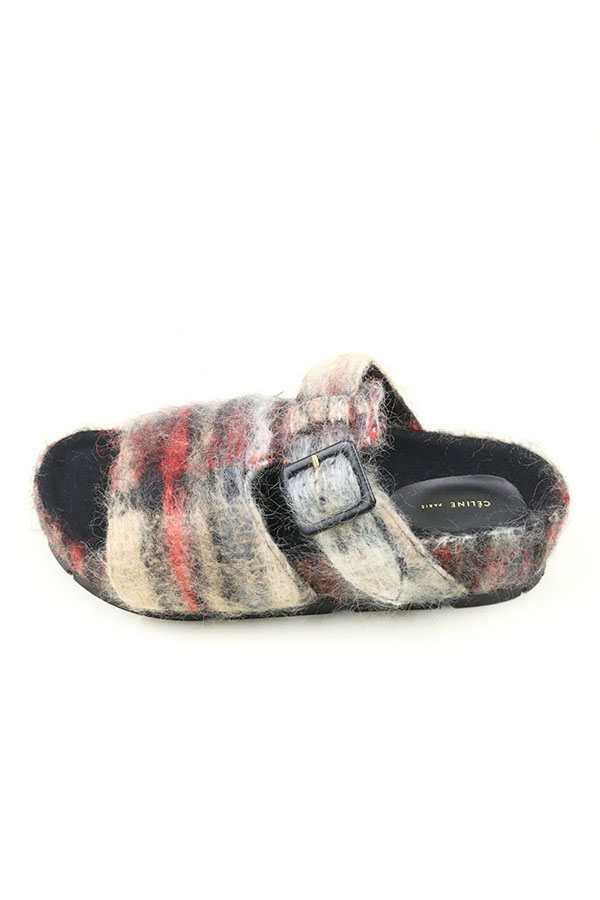 Spring-2000 HERMES by Martin Margiela border wool vareuse sleeveless trousers set-up