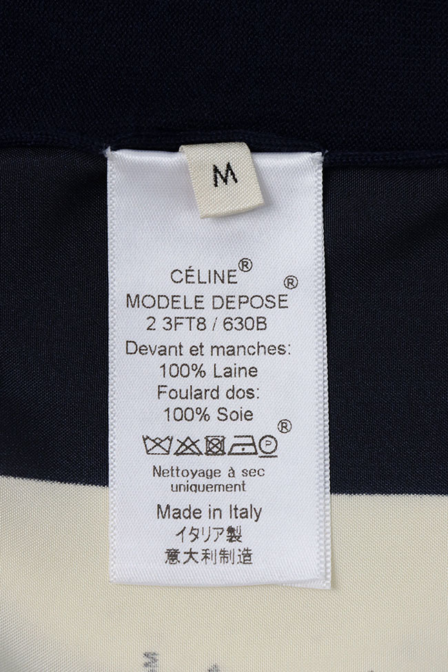Fall-1999 HERMES by Martin Margiela cashmere stole with pocket