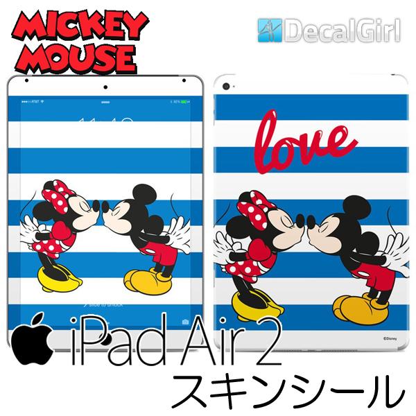【セール!】DecalGirl ディズニー ミッキーマウス iPad air2専用スキンシール《マウス ラブ》 アップル キッズ デカール ステッカー シール iPadケース 子供用カバー KIDS ipadカバー
