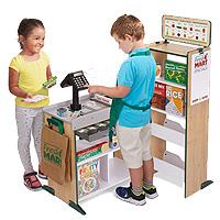 メリッサ & ダグ フレッシュ マート グローサリー ストア 木製のグローサリー ストア 木製 バーコードリーダー お買い物ごっこ ごっこ遊び ままごと 組み立て 知育玩具 遊具 お店屋さん Melissa & Doug Fresh Mart Grocery Store