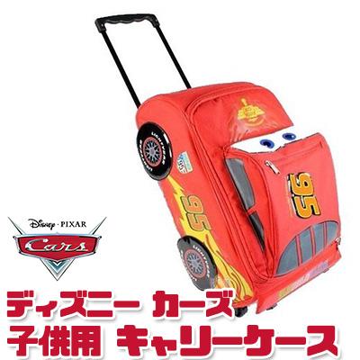 ディズニー ピクサー カーズ2 ライトニング マックィーン ローリング ラゲッジ (キャンバスタイプ) キャリーバッグ キッズ 子供用 旅行 帰省 遠足 お泊り Disney Pixar Cars 2 Rolling Lightning McQueen Luggage Suitcase