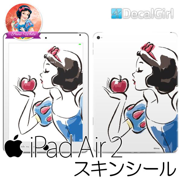 【セール!】DecalGirl ディズニープリンセス 白雪姫 iPad air2専用スキンシール《スケッチ》 アップル キッズ デカール ステッカー シール iPadケース 子供用カバー KIDS ipadカバー