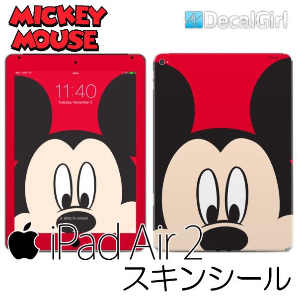 【セール!】DecalGirl ディズニー ミッキーマウス iPad air2専用スキンシール《ミッキーフェイス》 アップル キッズ デカール ステッカー シール iPadケース 子供用カバー KIDS ipadカバー