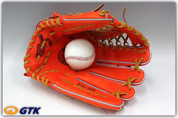 久保田スラッガー 訳あり特価セール KSG-SPT 左投げ用 Fオレンジ K7ラベル 硬式外野手用グラブ 世界の青木ヤクルト時代後期モデル 深めのポケットと大きめサイズで安心感があります【グローブ 野球 硬式 型付け無料 高校野球対応】