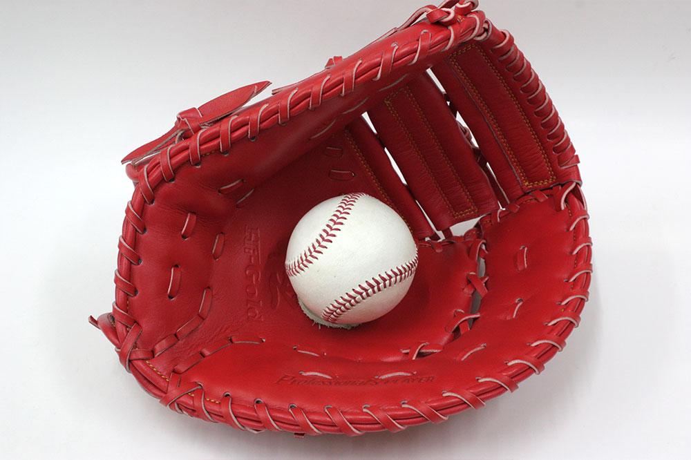 ハイゴールド 軟式用ファーストミット OKG-650F SRオレンジ 己極 光沢加工 野球 軟式 学生野球対応