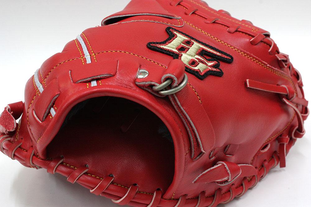 ハイゴールド 軟式用キャッチャーミット OKG-650M SRオレンジ 己極 光沢加工 野球 軟式 学生野球対応