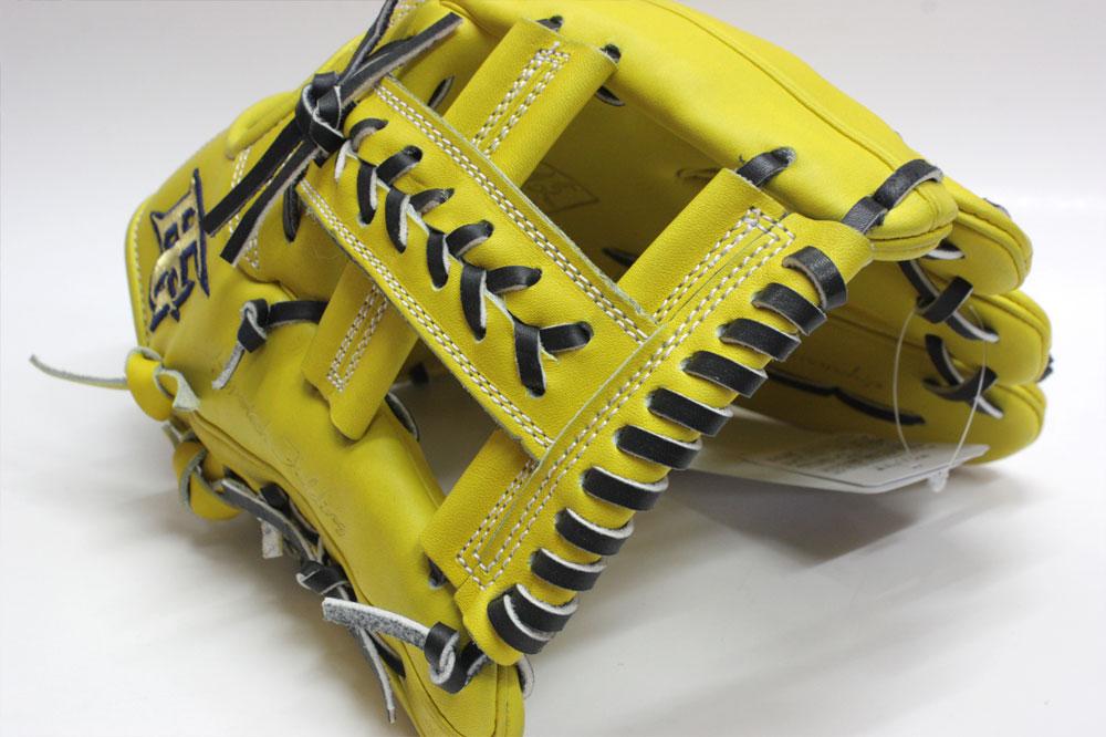 送料無料 福袋 ハイゴールド 硬式グラブ福袋 WKG-1076 ナチュラルイエロー ショート用 サイズC-3 硬式グラブを含めて9点セット 技極プロレザー 最高峰