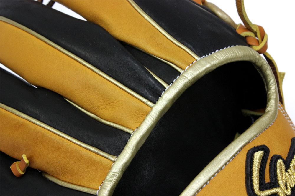 送料無料 久保田スラッガー オーダー 軟式グローブ 6PSL W-29 K9ラベル タン×ブラック×ゴールド セカンド・ショート用 型付け券&ランドリー袋付き