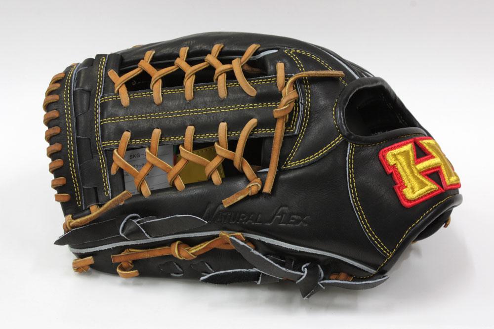 送料無料 ハイゴールド 限定硬式グラブ SKG-3518 ブラック 左投げ用 外野手用 グローブ 高校野球対応