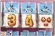 ヴィクトリーシール 刺繍タイプシール【ゴールド×レッド】裏面に強力シール付きなのでグラブやバットやバッグ等に即貼れます驚きの低価格150円【メール便可能 野球用品 グローブ】