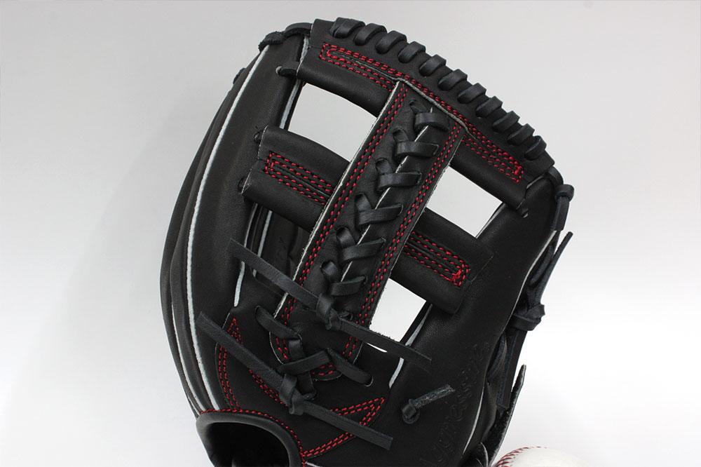 久保田スラッガー少年野球軟式グローブ KSN-J6X W-14 ブラック ジュニア用では中間サイズモデル オールラウンド向け J号球対応