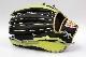湯もみ型付け券・ランドリー袋付き ウィルソン WTARHRD8F ブラック×ライム 右投げ用 一般軟式グラブ/グローブ 外野手用 サイズ12