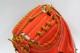 久保田スラッガー 左投げ用 限定軟式キャッチャーミット LT17-422 Fオレンジ 一般軟式用 キャッチャーミット 大きめポケットで安心感あります