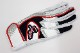 メール便のみ対応 送料無料 久保田スラッガー S-606 ネイビー×ホワイト×レッド 23cm バッティング手袋 両手用 ダブルベルトタイプ GTK