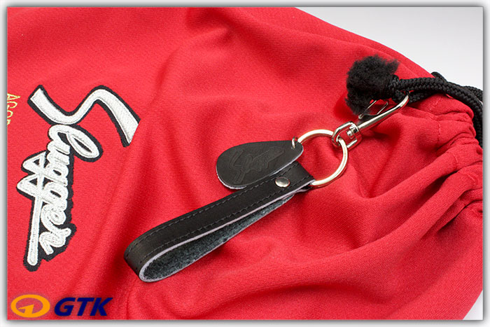 久保田スラッガー BA-26 ブラック ロゴ入りレザーキーホルダー ストラップキーリング仕様 プレゼントに最適なアイテムです 【メール便可能】【GTK 野球用品 アクセサリー】
