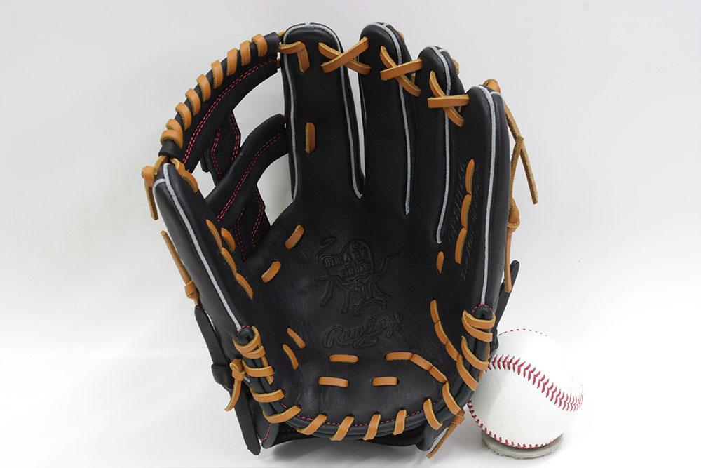 ローリングス GR8HD56 ブラック 右投げ用 学生野球対応 HOH DPシリーズ 軟式グラブ/グローブ オールラウンド用 サイズ11.75