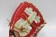 送料無料 久保田スラッガー 軟式 グローブ オーダー 23MS W-48 K19ラベル クリーム×レッド 二遊間用  湯もみ型付け券&ランドリー袋付き