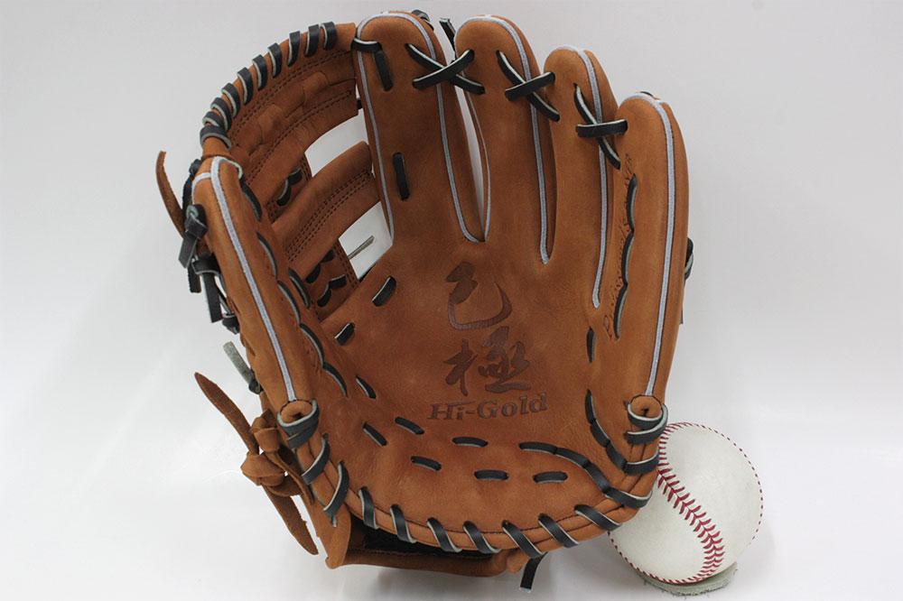 ハイゴールド 限定軟式用グラブ OKG-2165SP ブラウン バックスキンレザー採用 三塁・オールラウンド用