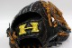 ハイゴールド OKG-6338 ブラック 己極シリーズ 軟式グラブ/グローブ 外野・オールラウンド用 グローブ 野球 軟式 型付け無料 学生野球対応 総体 GTK 02P03Dec16 キャッシュレス5%還元