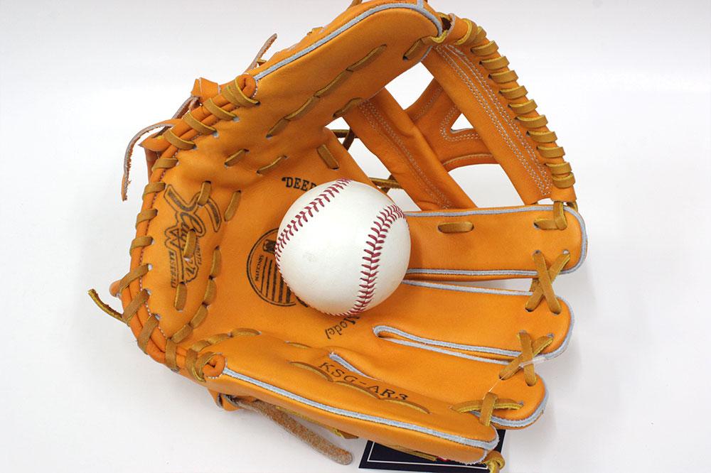 送料無料 久保田スラッガー 硬式グローブ 内野手 KSG-AR3 DPオレンジ 二遊間向け 高校野球対応