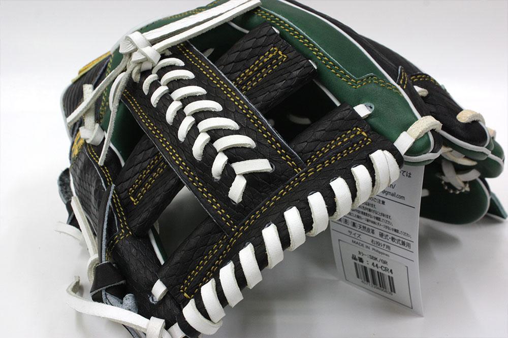 送料無料 44 フォーティーフォー 硬式軟式兼用グラブ 44-CR4 グリーンブラック 内野手用 11.5インチ