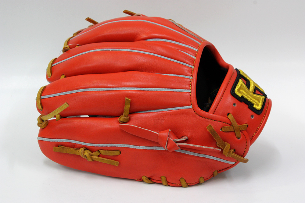 ハイゴールド OKG-6434 Fオレンジ 己極シリーズ 軟式グラブ/グローブ 二塁・ショート用 学生野球対応