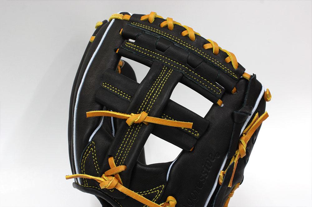 久保田スラッガー 軟式用グローブ KSN-AR1 ブラック 内野手用 二遊間向け L5のやや小さめのヨコトジ版 M号球対応