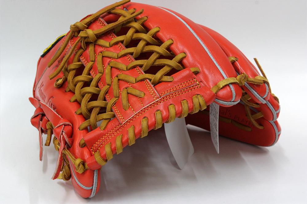 ハイゴールド OKG-6435 Fオレンジ 己極シリーズ 軟式グラブ/グローブ 三塁・オールラウンド用 学生野球対応
