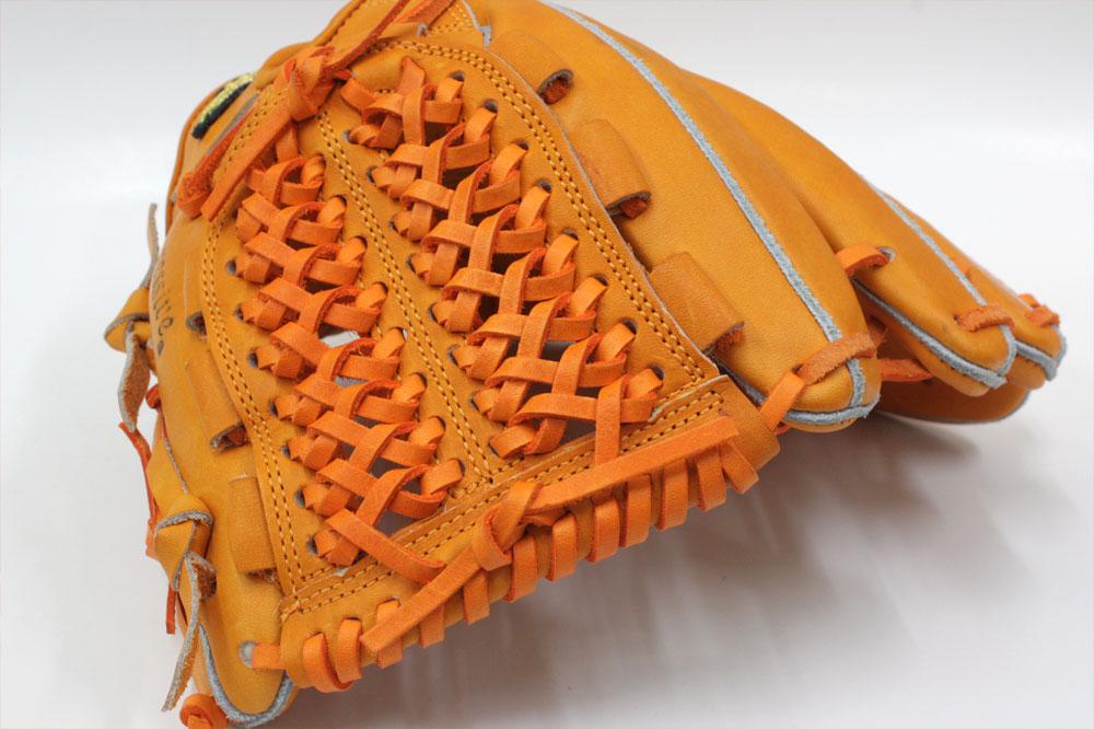 送料無料 訳あり KSG-MS1 DPオレンジ×オレンジ紐 久保田スラッガー 硬式グローブ 内野手 K7ラベル 投手・内野手兼用 手入れ部を小さくしフィット感を高めたミドルサイズ商品 高校野球対応 一般用 学生用