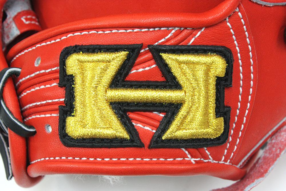 ハイゴールド KKG-1166 Fオレンジ フィニッシュエアシャーレザー 本格派の硬式用グラブ 二遊間用 サイズB-3