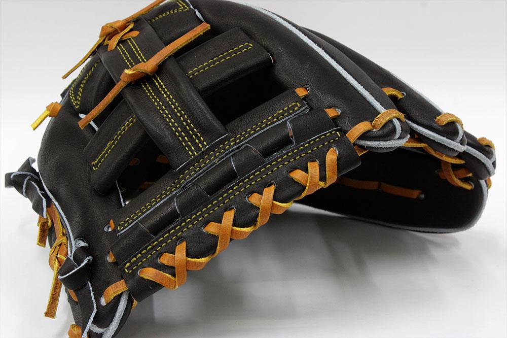 久保田スラッガー 硬式用グローブ KSG-AR1 ブラック 内野手用 二遊間向け 高校野球対応