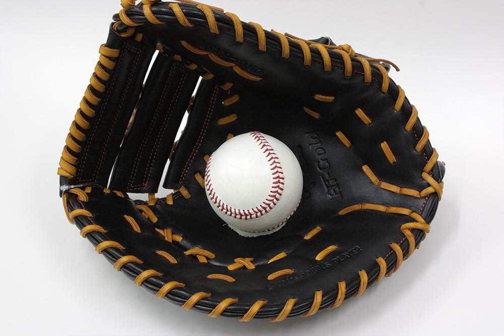 ハイゴールド 軟式用ファーストミット OKG-633F Fオレンジ 己極軟式シリーズ 学生野球対応