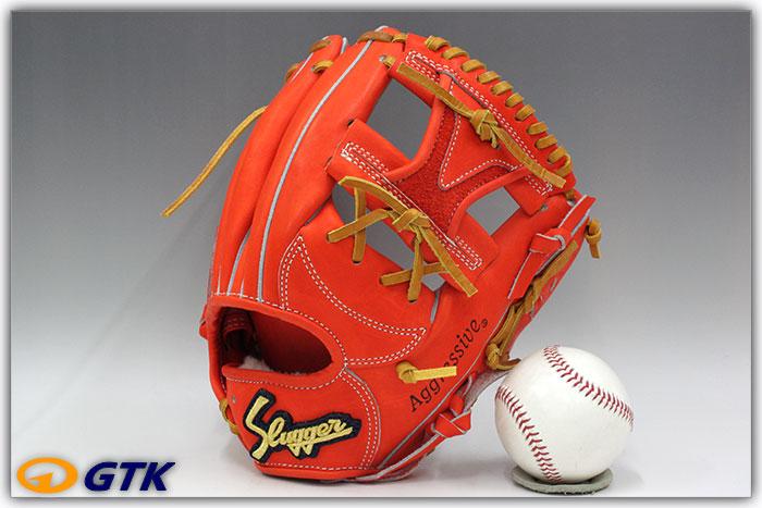 久保田スラッガー KSG-21PS Fオレンジ 球界の新名手上本選手モデルを1cmカットし新ウェブを搭載した二遊間向け やや広めのポケットがいい感じ【グローブ 野球 硬式 型付け無料 高校野球対応】