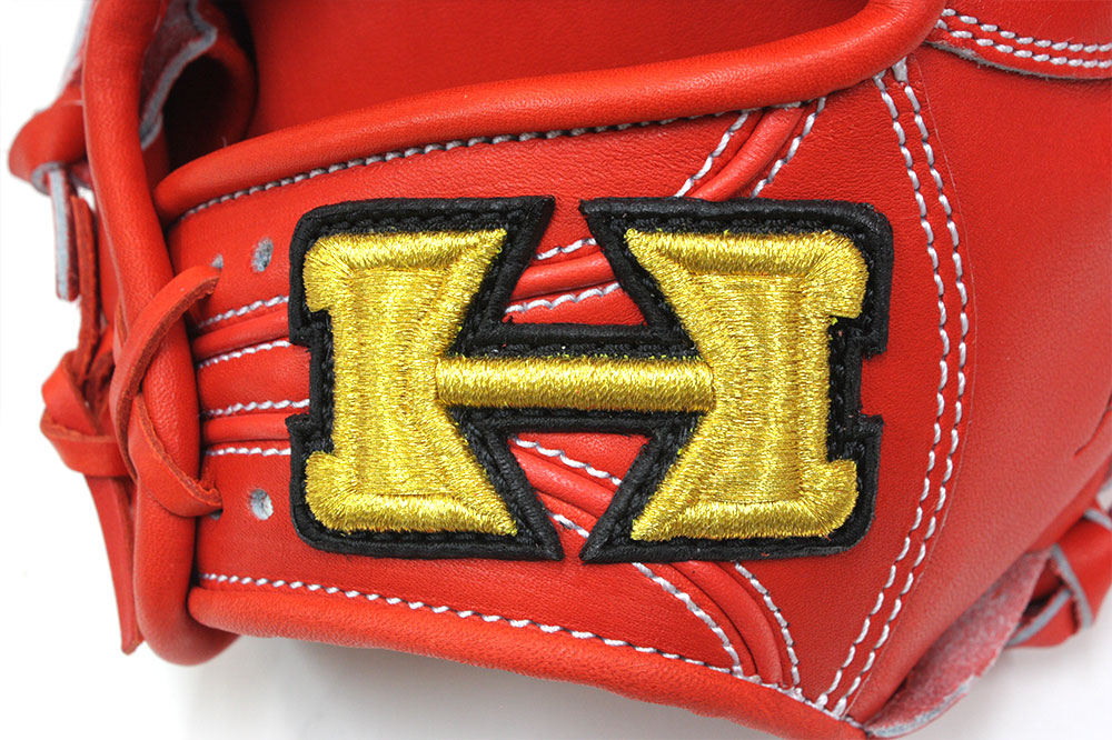 最終マックスSALE ハイゴールド KKG-1165 Fオレンジ フィニッシュエアシャーレザー 本格派の硬式用グラブ 三塁・オールP用 サイズD-3