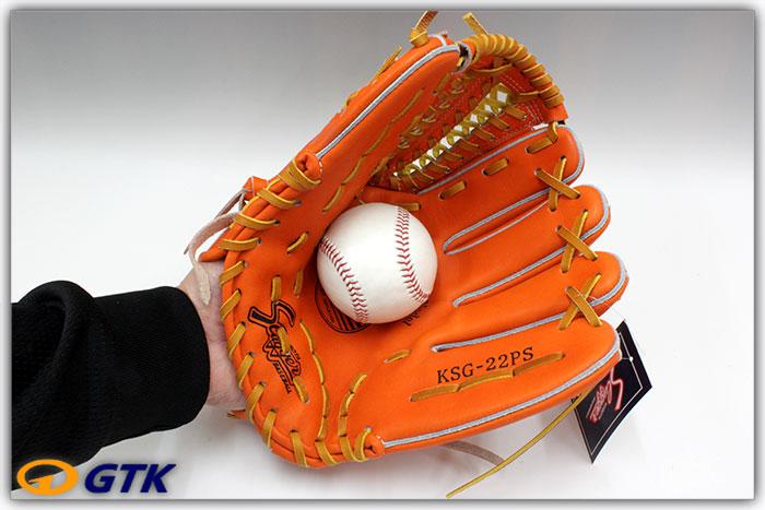 久保田スラッガー KSG-22PS DPオレンジ 球界の新名手上本選手モデルを5cmカットし鉄板ウェブW-3を搭載したショート向け やや広めのポケットがいい感じ【グローブ 野球 硬式 型付け無料 高校野球対応】