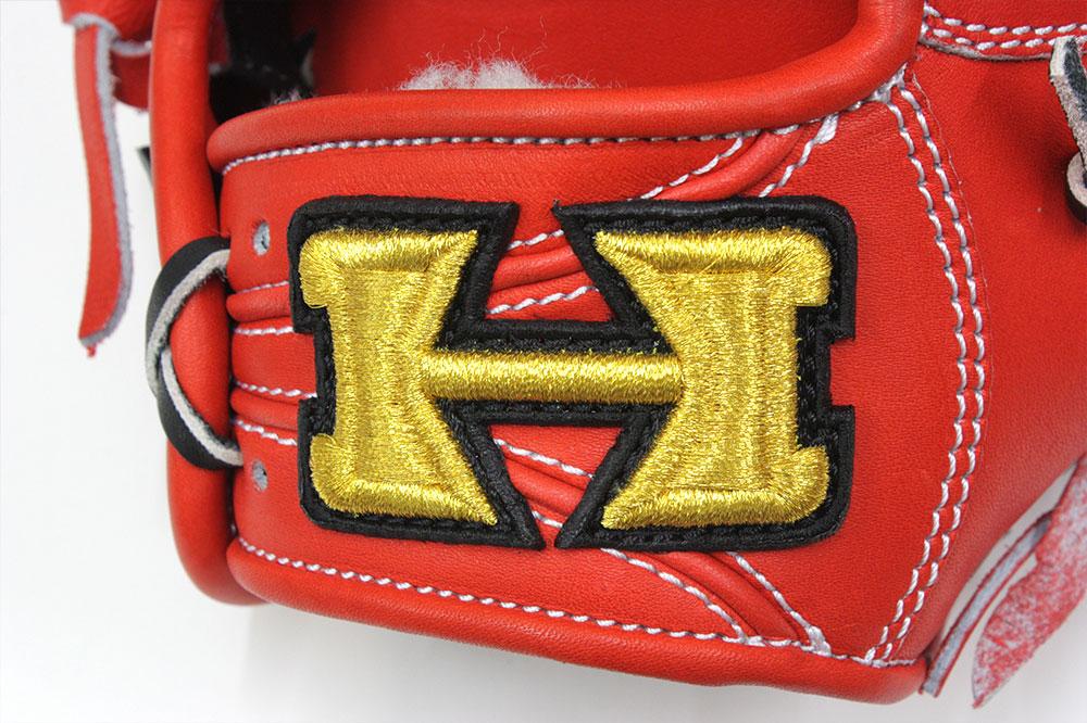 ハイゴールド KKG-1168 Fオレンジ フィニッシュエアシャーレザー 本格派の硬式用グラブ 外野手用 サイズE-5