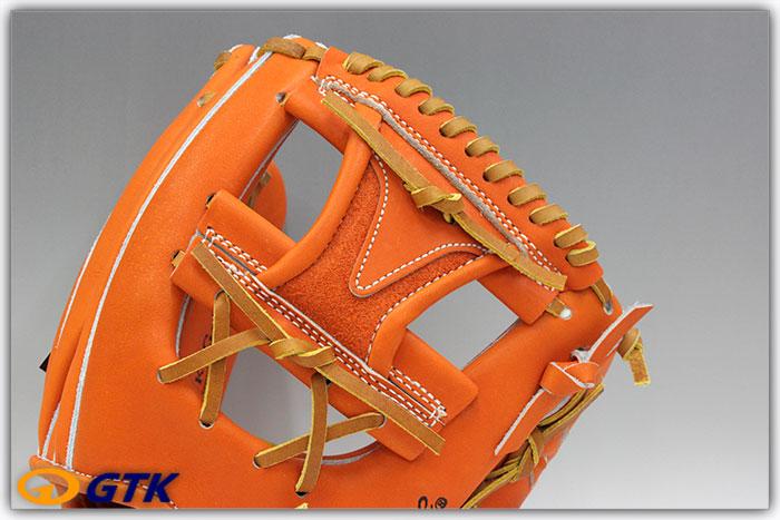 久保田スラッガー KSG-24MU DPオレンジ ミドルサイズモデルのUカットスタイル 癖が無くどなたにも使いやすい大きさ【グローブ 野球 硬式 型付け無料 高校野球対応 GTK】