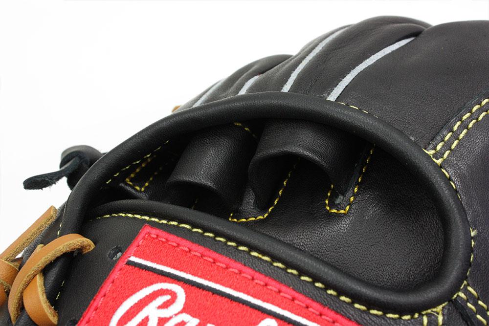 ローリングス GJ8HH1122 ブラック×タン紐 右投げ用 少年軟式用 HOH サイズL 身長140〜155cm向【次世代軟式ボール対応グラブ】