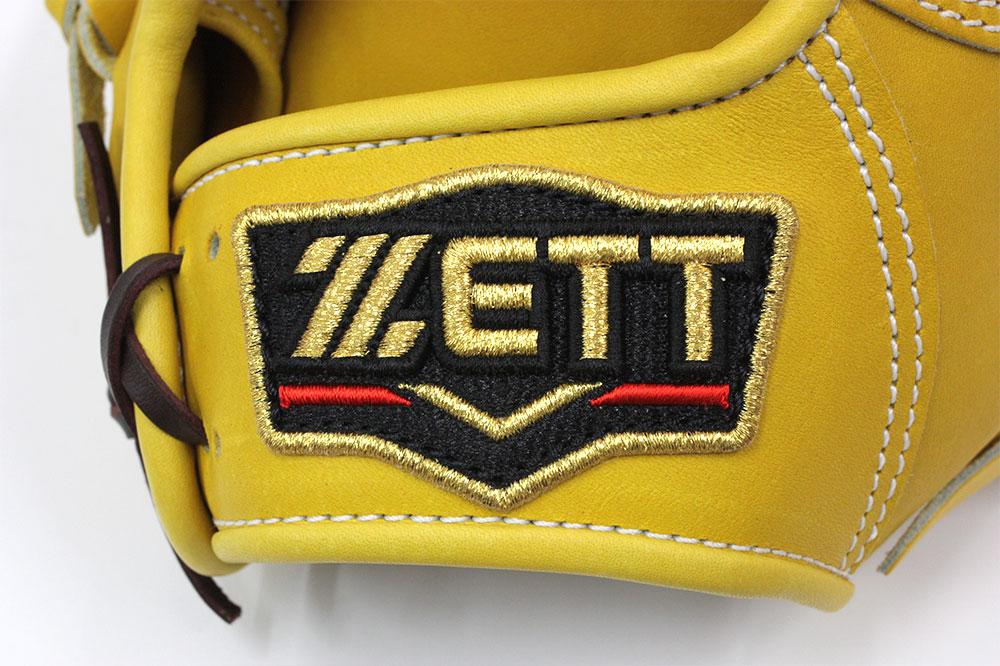 ゼット プロステイタス BPROG760 トゥルーイエロー×ブラウン紐 一般硬式用 ショート向け サイズ4 革質最高 国産ゼット 高校野球対応