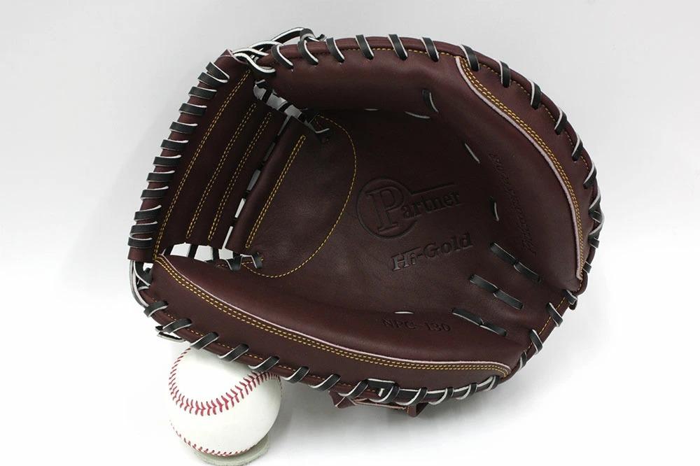送料無料 ハイゴールド NPC-130 レッドブラウン×ブラック紐 右投げ用 激安なのに高品質な硬式用キャッチャーミット 限定品 高校野球対応