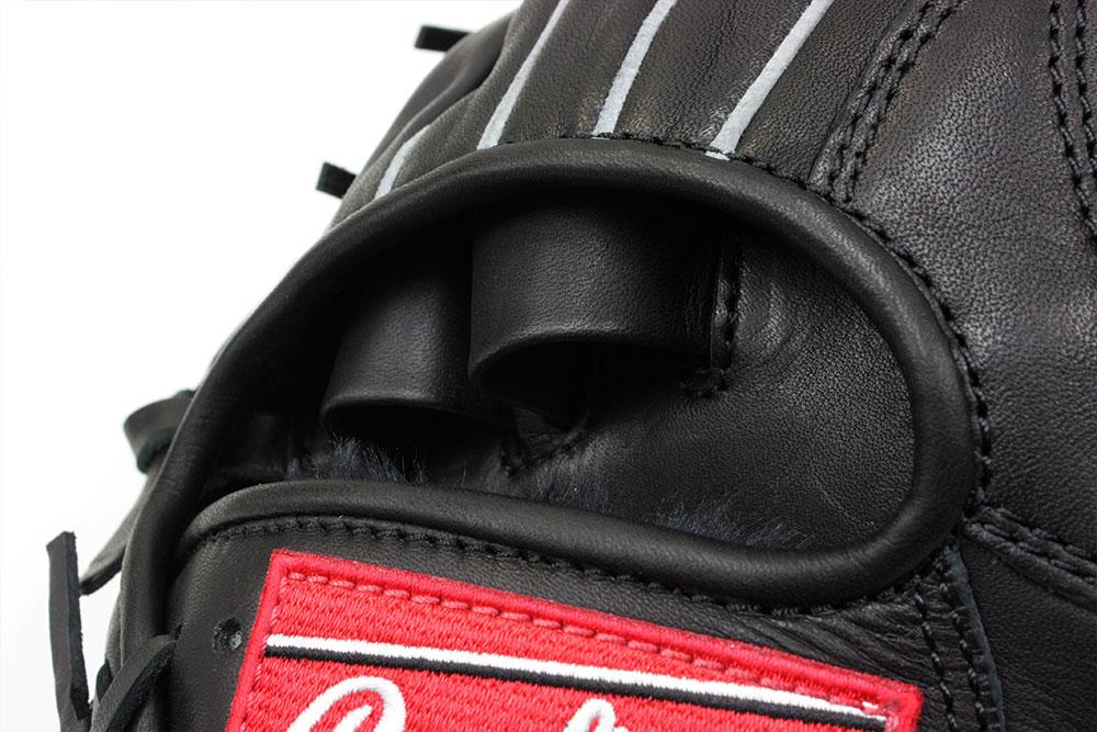 ローリングス GJ8HH1122 ブラック×ブラック紐 右投げ用 少年軟式用 HOH サイズL 身長140〜155cm向【次世代軟式ボール対応グラブ】